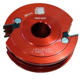 Porte-outil profil contre-profil D.120 x 40 x Al. 30 mm Z2 KPF120 livré avec profil N°1