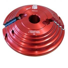 Porte-outil D. 180 x 50 x Al. 30 mm multi-arrondis R.4, 6, 8, 10 mm Z2 PAF180