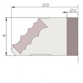 Jeu de 2 plaquettes multi-arrondis R. 4, 6, 8, et 10 mm PAF180R46810 pour PAF180