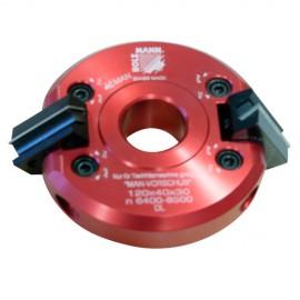 Porte-outil à 2 têtes inclinables D. 120 x 40 x Al. 30 mm Z2 SFK120