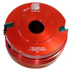 Porte-outil auto-serrant D. 130 x 60 x Al. 30 mm Z2 TVF130