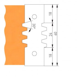 Jeu de 2 plaquettes 1 dent TVF130Z21ZPM pour TVF130