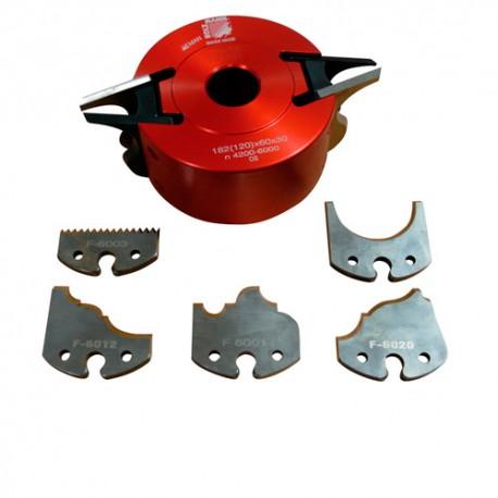Porte-outil à profiler avec contre-fers D. 120 x 60 x Al. 30 mm Z2 UNISET60