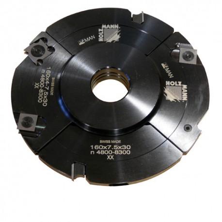 Porte-outil à rainer extensible D. 160 x 4 à 15,5 x Al. 30 mm Z4 + V4 VN160