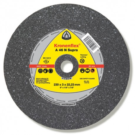 25 disques à tronçonner MD SUPRA A 46 N D. 125 x 2,5 x 22,23 mm - Aluminium - 170708