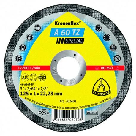 25 disques à tronçonner MP SPECIAL A 60 TZ D. 125 x 1 x 22,23 mm - Métal / Inox - 202401