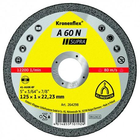 25 disques à tronçonner MP SUPRA A 60 N D. 115 x 1 x 22,23 mm - Aluminium - 264297