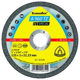 25 disques à tronçonner MP SPECIAL A 960 TZ D. 115 x 1 x 22,23 mm - Acier / Inox - 322180