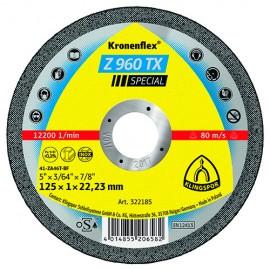 25 disques à tronçonner MP SPECIAL Z 960 TX D. 125 x 1 x 22,23 mm - Acier / Inox / Alliages / TiN - 322185