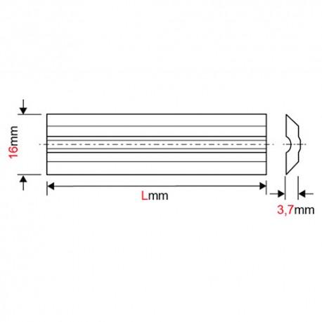 Fer de dégauchisseuse/raboteuse reversible Variplan 130 x 16 x 3,7 mm (le fer) - MFLS - FERE1301637