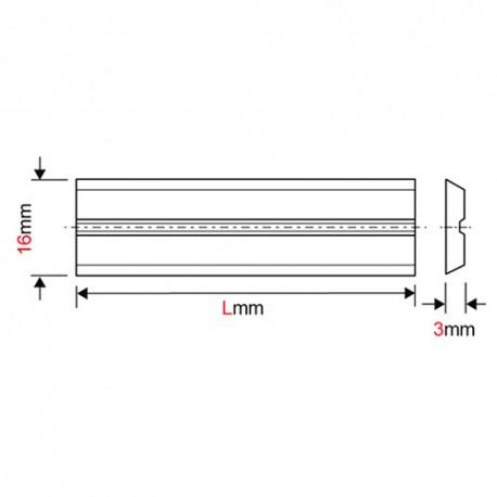 Fer de dégauchisseuse/raboteuse reversible Centrolock HSS 160 x 16 x 3 mm (le fer) pour Weinig - MFLS - FERE160163