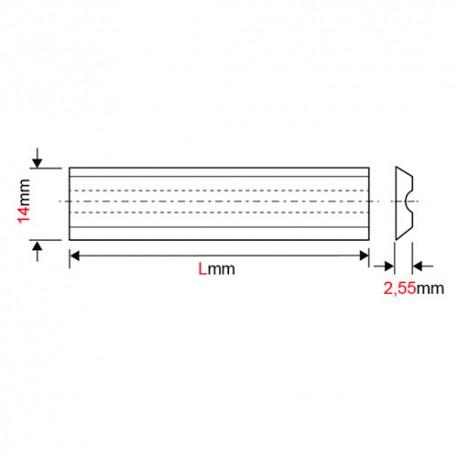 Fer de dégauchisseuse/raboteuse reversible Terminus HSS 18% 180 x 14 x 2,5 mm (le fer) - MFLS - FERE1801425