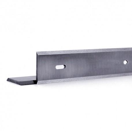 Fer de dégauchisseuse/raboteuse reversible HSS 18% 280 x 19 x 1 mm (le fer) entraxe 200 mm - MFLS - FERE280191