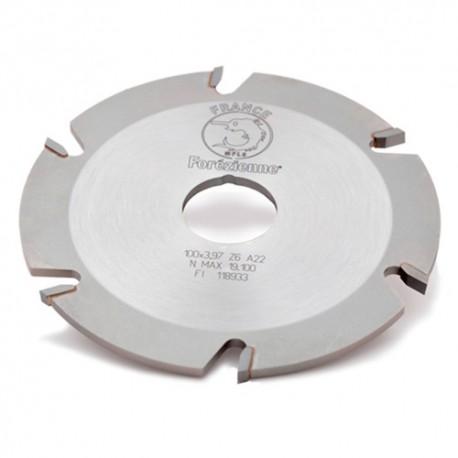 Fraise à rainer pour lamello D. 100 x Ht. 3,97 x Al. 22mm Z : 6 HM - MFLS - FRAI0001