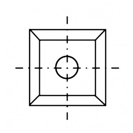 Plaquette réversible carbure K05 4 coupes 12 x 12 x 1,5 mm 35° - Diamwood