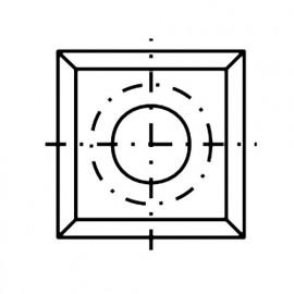 Plaquette / araseur réversible carbure K05 4 coupes 14 x 14 x 2.0 mm 30° - Diamwood