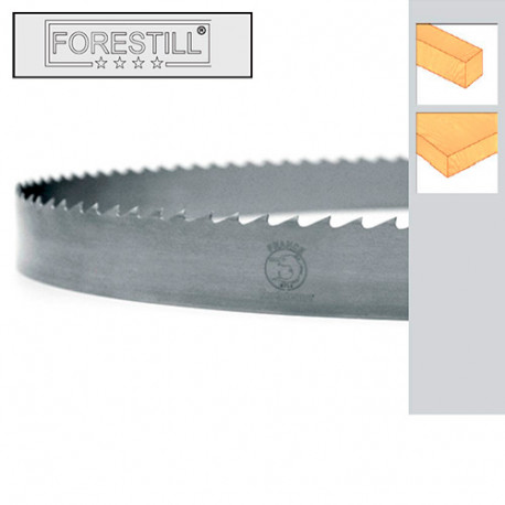 Lame de scie à ruban bois PAE 4080 x 30 x 0,6 x 10 mm - Acier Forestill - Forezienne