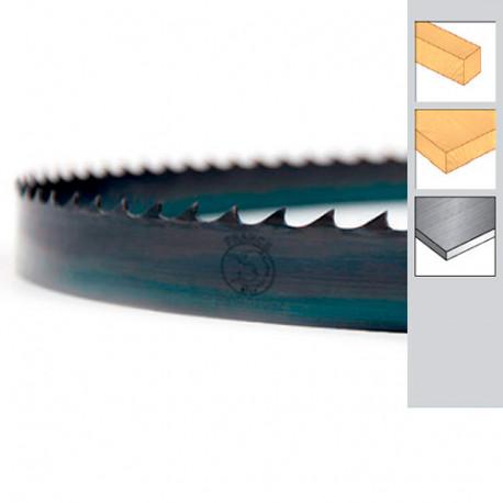Lame de scie à ruban bois PAE double denture 1752 x 8 x 0,65 x 4 TPI - Acier trempé Carbone - Forezienne