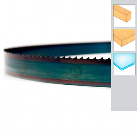 Lame de scie à ruban bois PAE 1490 x 10 x 0,36 x 4 mm - Acier trempé Flexback - Forezienne