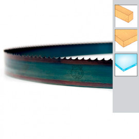 Lame de scie à ruban bois PAE 1400 x 10 x 0,36 x 10 mm - Acier trempé Flexback - Forezienne