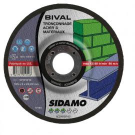 25 disques à tronçonner MD - D.125 x 3 x 22,23 mm Bival - Acier/Matériaux - 10101010