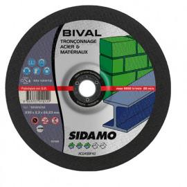 25 disques à tronçonner MD - D.115 x 3 x 22,23 mm Bival - Acier/Matériaux - 10101013