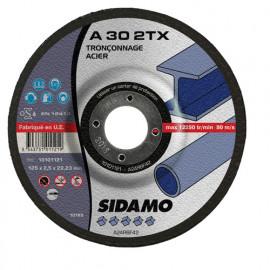 25 disques à tronçonner MD - D.125 x 2.5 x 22,23 mm A30 2TX - Acier - 10101121