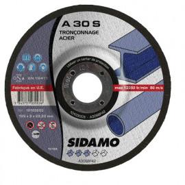 25 disques à tronçonner MD - D.125 x 3 x 22,23 mm A30S - Acier - 10103003