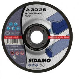 25 disques à tronçonner MD - D.125 x 2.5 x 22,23 mm A30-2S - Acier - 10103100