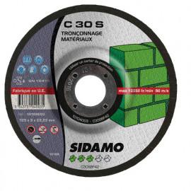 25 disques à tronçonner MD - D.125 x 3 x 22,23 mm C30S - Matériaux - 10104003