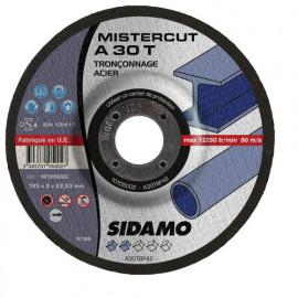 25 disques à tronçonner Mister Cut MD - D.125 x 3 x 22,23 mm A30T - Acier - 10105002