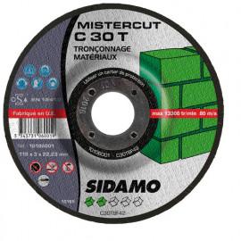 25 disques à tronçonner Mister Cut MD - D.115 x 3 x 22,23 mm C30T - Matériaux - 10106001
