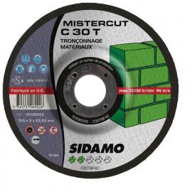 25 disques à tronçonner Mister Cut MD - D.125 x 3 x 22,23 mm C30T - Matériaux - 10106002