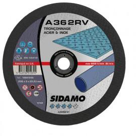 25 disques à tronçonner plat - D.230 x 2 x 22,23 mm A36 2RV Acier/Inox - 10601039