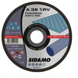 25 disques à tronçonner plat - D.115 x 1 x 22,23 mm A36 1RV Acier/Inox - 10601061