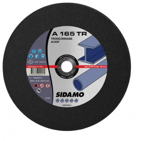 10 disques à tronçonner plat - D.350 x 4 x 25,4 mm A164 TR - Acier - 10602015