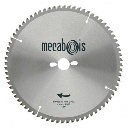 Lame carbure NE2 D. 300 x 3 x 30 mm Z 72 TP Nég. - Alu/Zinc/Plastique - 290183