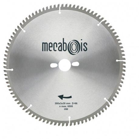 Lame carbure NE3 D. 250 x 3 x 30 mm Z 80 TP Nég. - Alu/Zinc/Cuivre/Nickel/Plastique - 290192