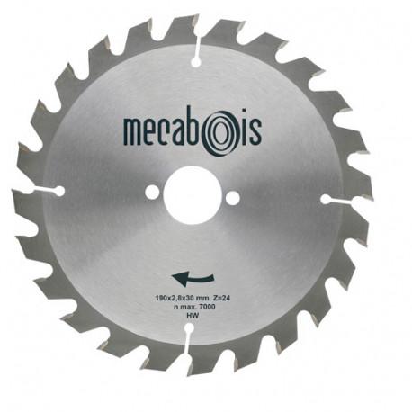 Lame carbure SILERGIE I D.190 x 2,8 x 30 mm Z 24 Alt. - Bois/Isolants - 901052