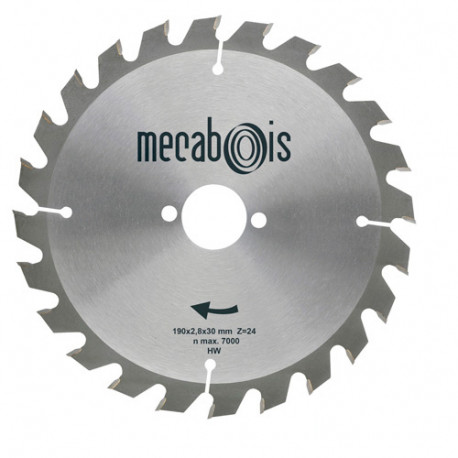 Lame carbure SILERGIE I D.235 x 2,8 x 25 mm Z 24 Alt. - Bois/Isolants - 901070