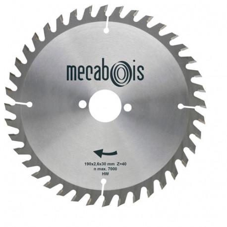 Lame carbure SILERGIE II D. 180 x 2,4 x 20 mm Z 40 Alt. - Bois/Panneaux/Plastique/Plexiglas - 902048
