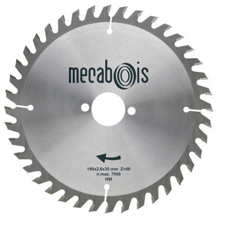 Lame carbure SILERGIE II D. 305 x 3,2 x 30 mm Z 60 Alt. Neg - Bois/Panneaux/Plastique/Plexiglas - 902084