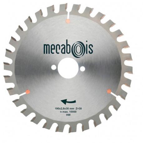 Lame carbure MULTICUT D. 190 x 2,8 x 30 mm Z 30 Alt. - Bois/Panneaux/Alu/Plastique - 905118