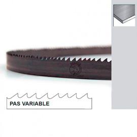 Lame de scie à ruban métal PAE 2450 x 27 x 0,9 x 4/6 TPI N pas variable - Bi-métal M42 - Forezienne