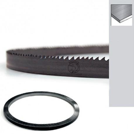 Rouleau 50 M lame scie ruban Bi-métal M42 de 10 x 0,9 x 10/14 TPI pas variable affuté / avoyé / trempé - Angle 10°