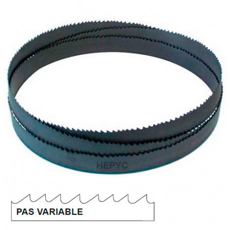 Lame de scie à ruban métal PAE 3370 x 27 x 0,9 mm x 4/6 TPI pas variable - Bi-métal M42 - 73080503370 - Hepyc