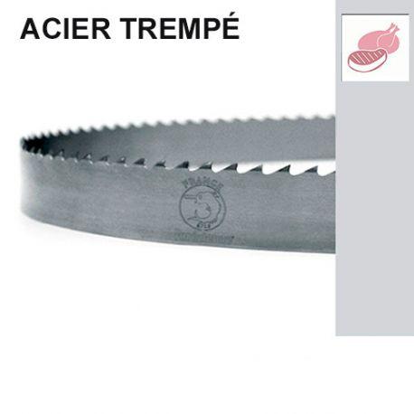 Lame de scie à ruban alimentaire PAE 1650 x 16 x 0,5 x 6 mm - Acier C85 denture trempée - Forézienne