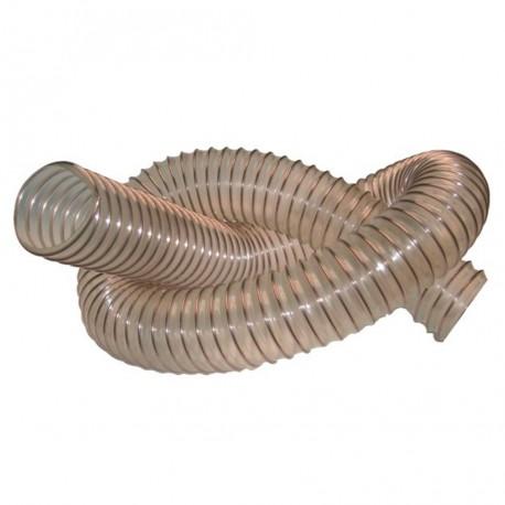 10 M de tuyau flexible d'aspiration Menuiserie D. 120 mm spire acier cuivré PUR 1,4 mm - DW-257258009 - Diamwood