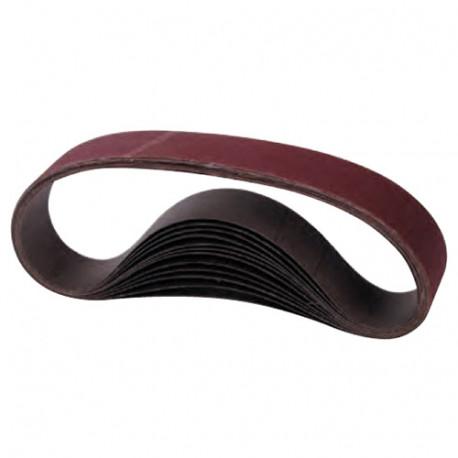 10 bandes abrasives toilées corindon - Sur-mesure - Grain fermé