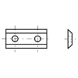 Lot de 10 plaquettes réversibles au carbure KO5 30x12x1,5 mm 2 coupes pour bois - 0030.1215.00 - Leman